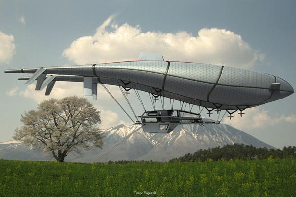 这款名为 wolke7 的未来飞行房屋可以使你享受到来自空中的一切服务图片