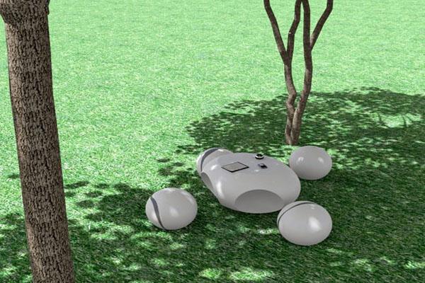 生态外型的石头桌子
