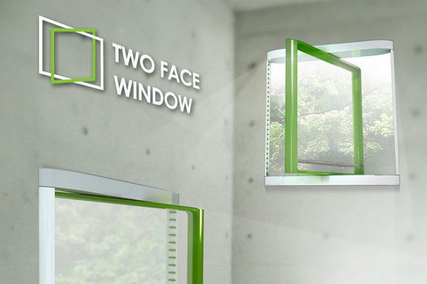 双面玻璃窗