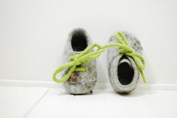 萌爆了的毛毡婴儿鞋