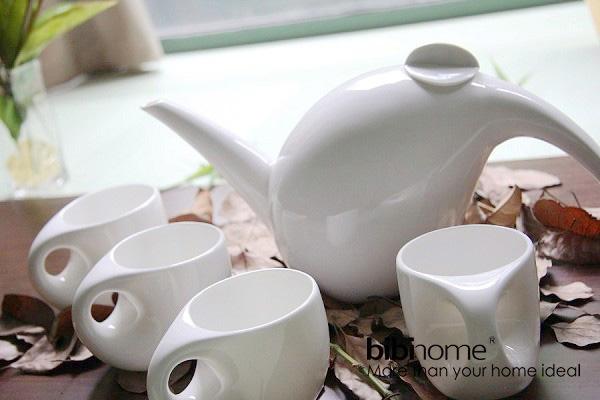 蜗牛样式的陶瓷茶具(三)