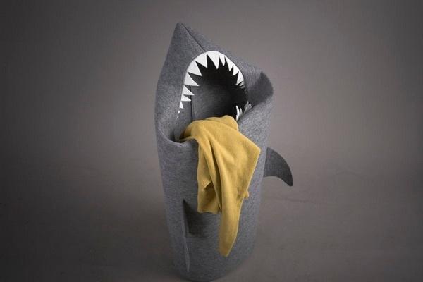 霸气外露的鲨鱼洗衣篮