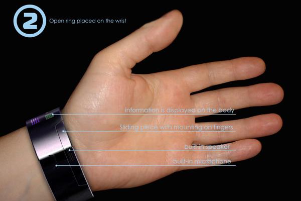 Rollerphone 手镯式概念手机(二)