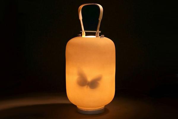 陶瓷制作的蝴蝶灯笼(五)