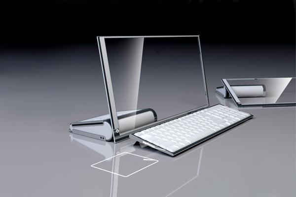 HP 透明概念电脑