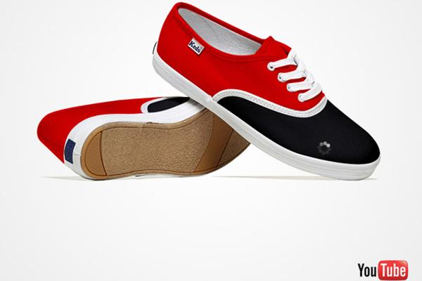 创意社交媒体帆布鞋