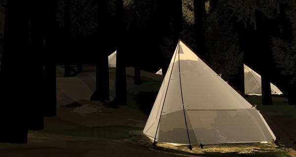 超级轻便且实用的帐篷(二)
