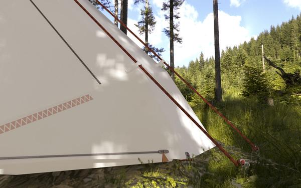 超级轻便且实用的帐篷(五)