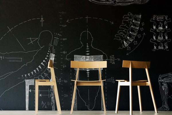 符合人机工程学的简约座椅