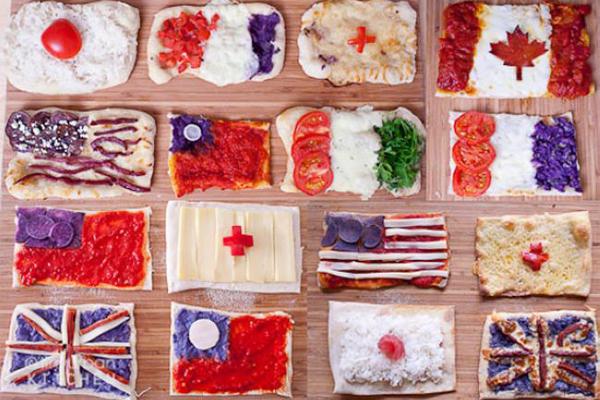 各国国旗披萨