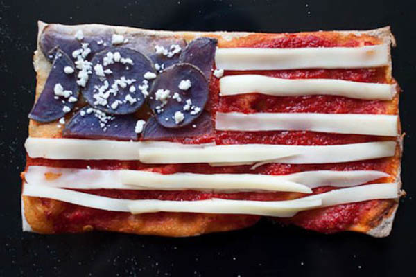 国旗披萨-美国