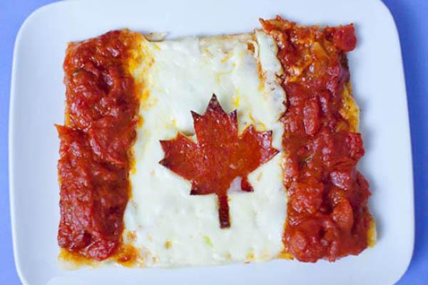 国旗披萨-加拿大