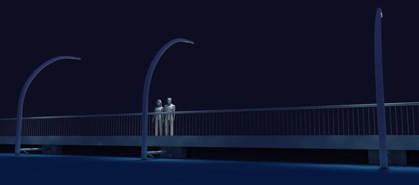 利用湖水感潮的环保路灯(三)