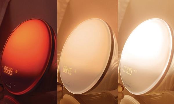 飞利浦阳光唤醒灯显示的不同时间