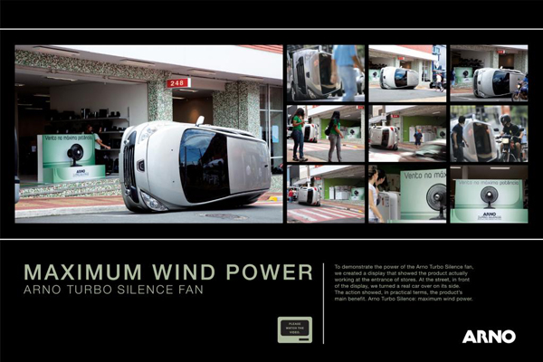 Arno Turbo 创意风扇广告细节