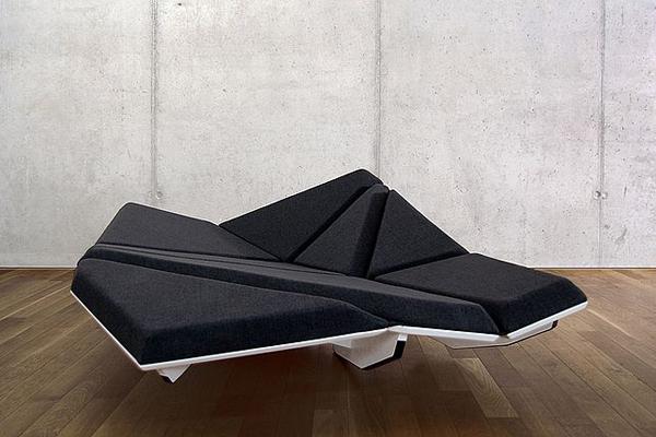 岩礁样式的沙发