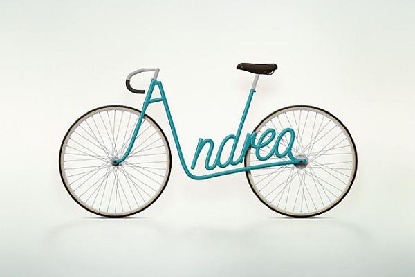 签名自行车
