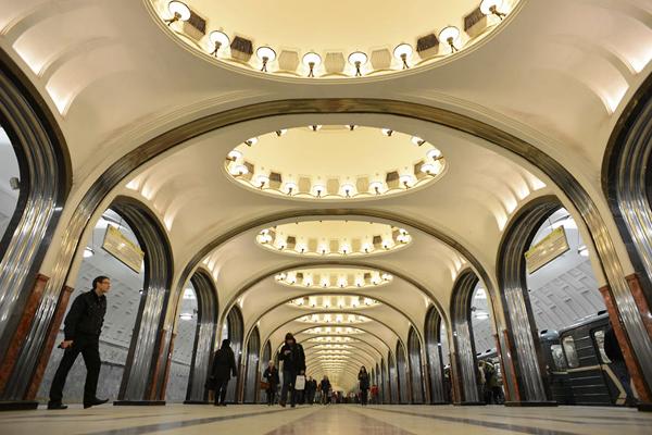 马雅可夫斯基地铁站,莫斯科