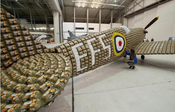 6500个鸡蛋盒打造的喷气式飞机(五)