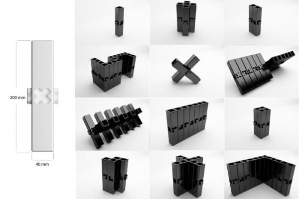 自由拼接模块化花瓶(五)