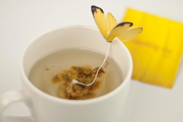 春意十足的花蝴蝶茶包
