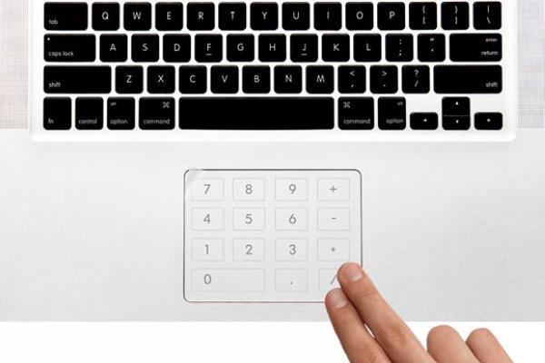 触控板上的小键盘