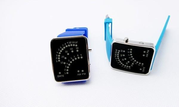潮流创意LED扇形手表
