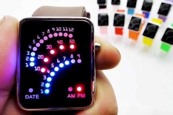 潮流创意LED扇形手表(三)