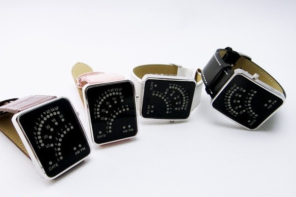 潮流创意LED扇形手表(四)