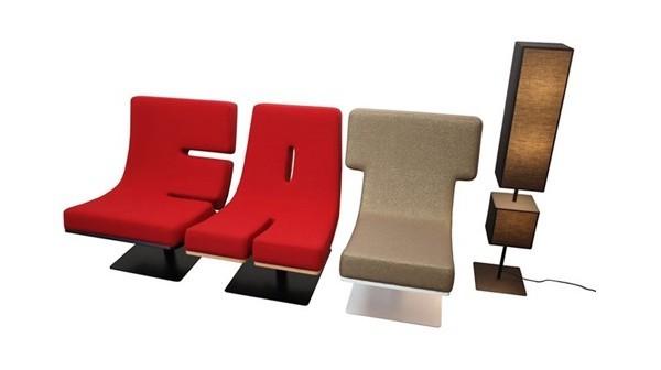 有趣的字母沙发设计