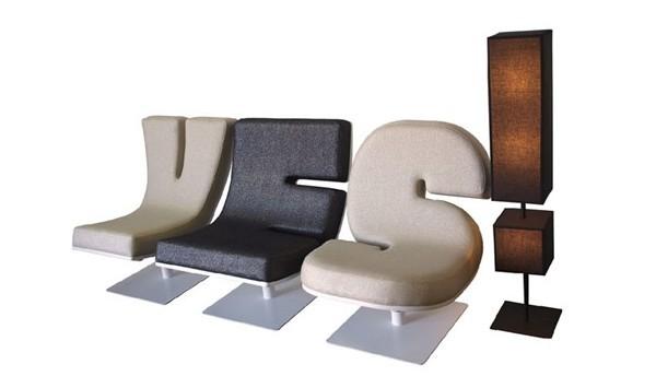 有趣的字母沙发设计(四)