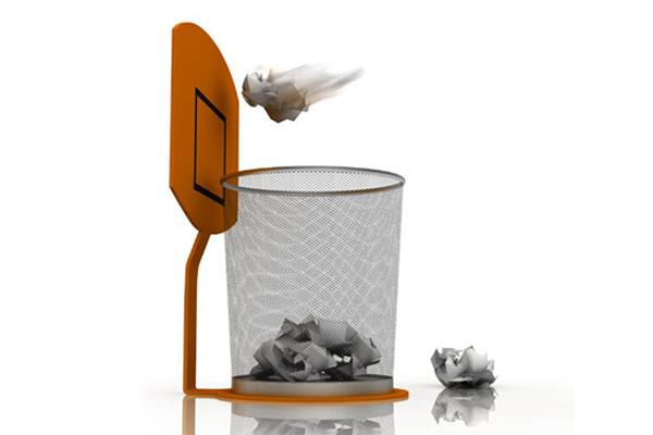 趣味篮筐式垃圾桶(二)