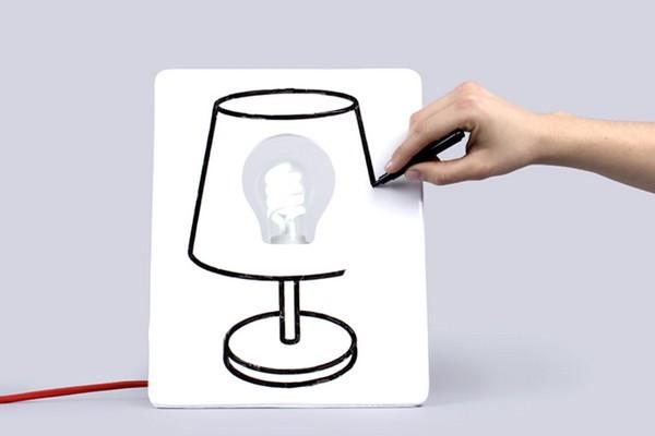 DIYO创意涂鸦板床头灯