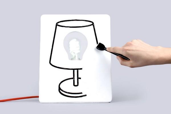 DIYO创意涂鸦板床头灯(二)