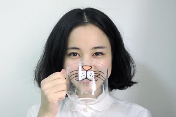 可爱圆形猫咪玻璃杯(二)