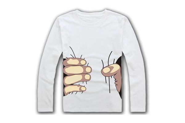 被抓住的趣味衬衫