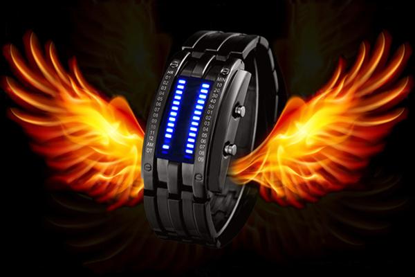 韩版潮流LED帅气手表