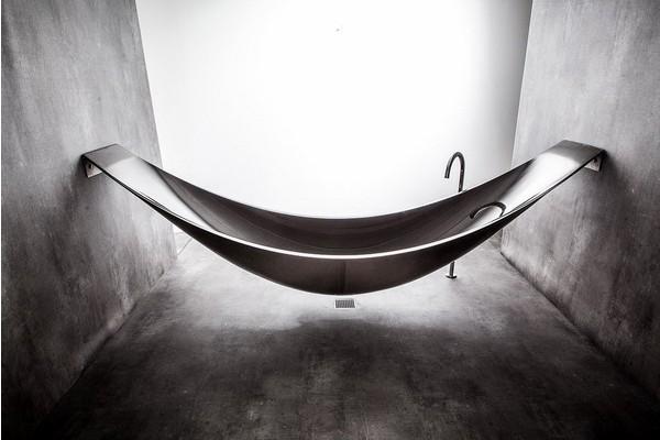 反传统吊床浴缸