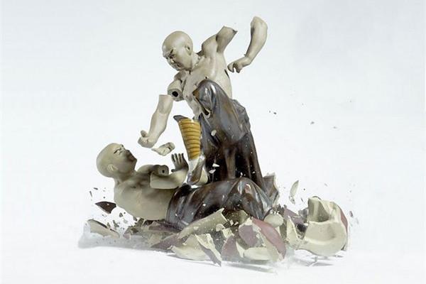 功夫陶瓷爆裂的瞬间震撼(三)
