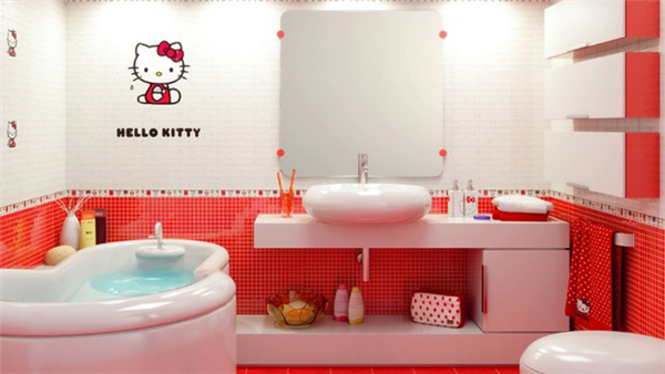 Hello Kitty迷人的创意瓷砖