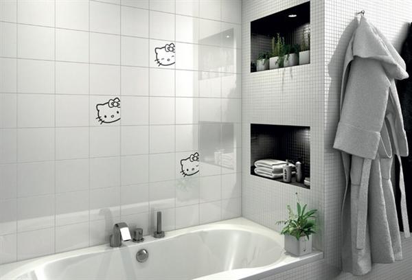 Hello Kitty迷人的创意瓷砖(七)