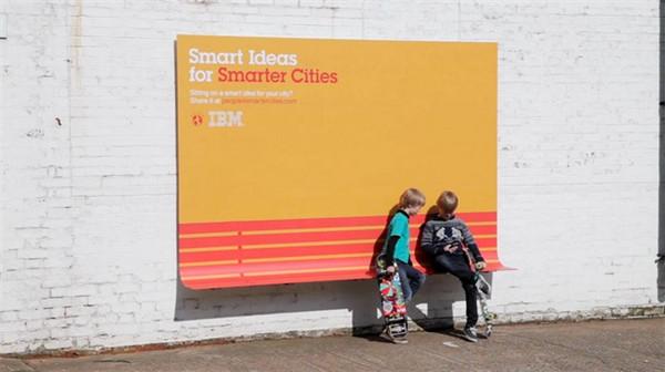 激发创意分享的IBM广告牌