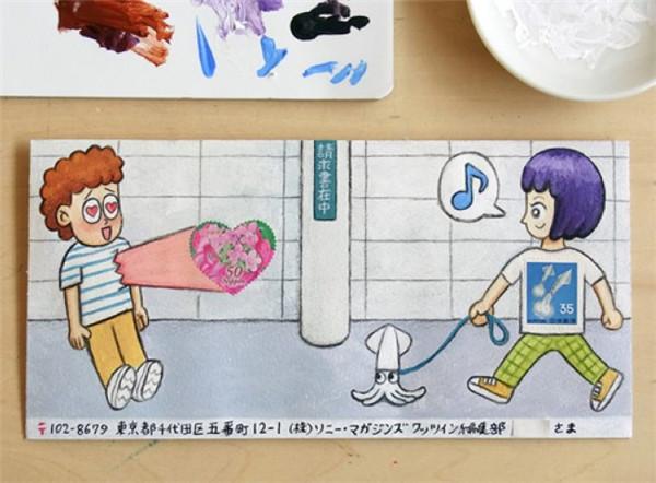 有趣的手绘信封(七)