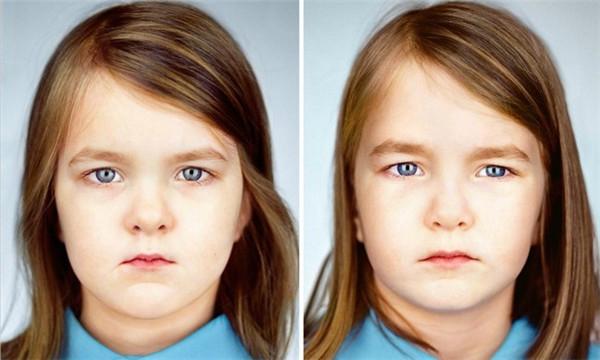 有趣的双胞胎肖像照