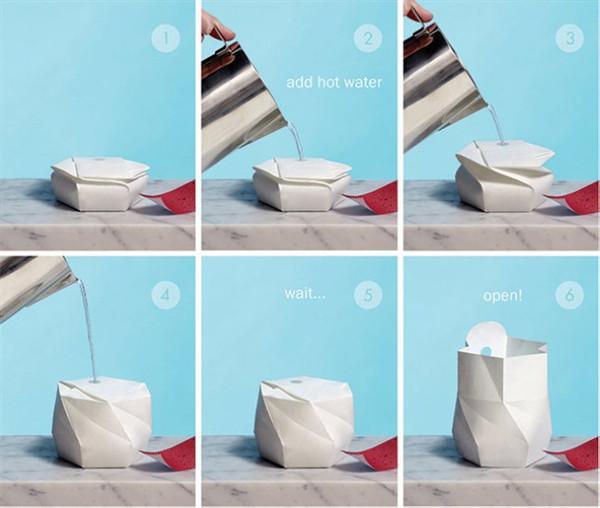 折纸式环保泡面碗(五)