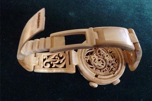 手工帝的全木雕刻手表(二)