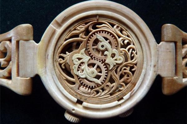 手工帝的全木雕刻手表(三)
