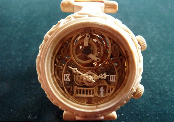 手工帝的全木雕刻手表(四)