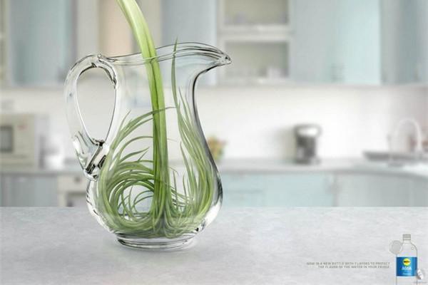 非常有创意的瓶装水广告