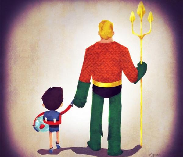 领孩子上学的超人英雄们(七)